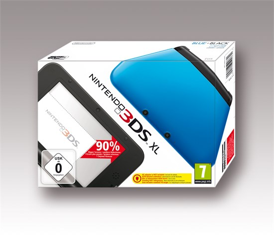 3DS XL Konsole blau + schwarz