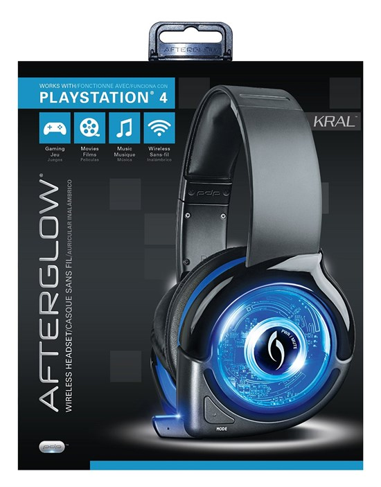 ps4 afterglow kral wireless headset. Black Bedroom Furniture Sets. Home Design Ideas