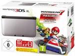 3DS XL Konsole schwarz/silber + Mario Kart 7