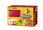 3DS XL Konsole rot + New Super Mario Bros 2