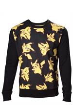 Pokemon - Sweatshirt Pikachu All Over (Größe M)