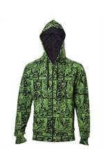 Marvel Comics - Hoodie The Hulk Comic Book Pattern (Größe XL)