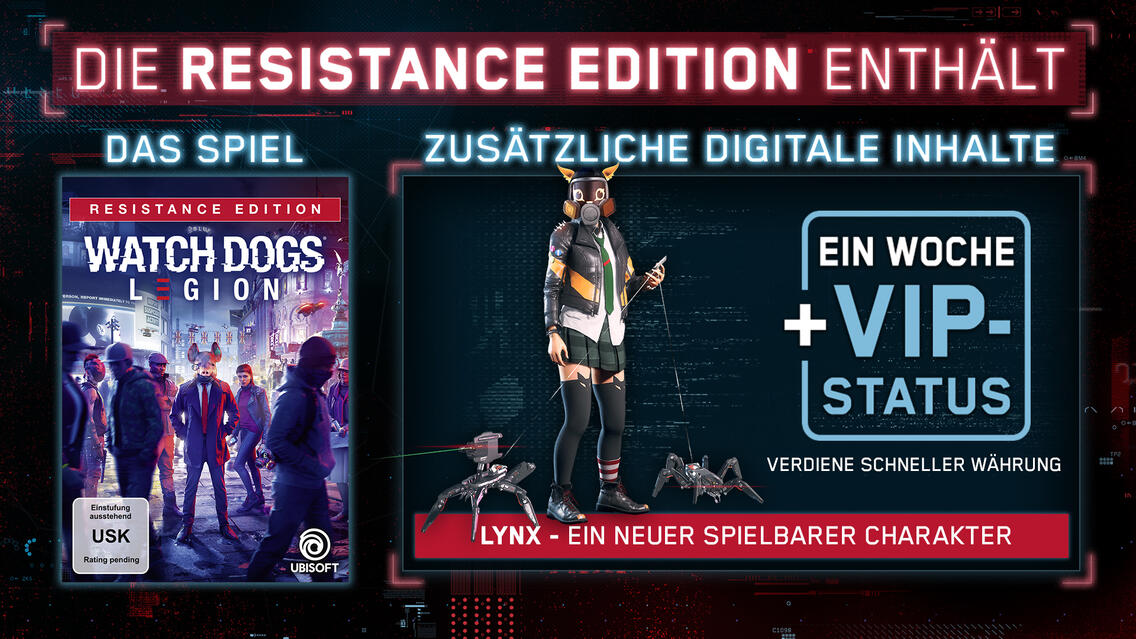 Watch Dogs Legion Resistance Edition