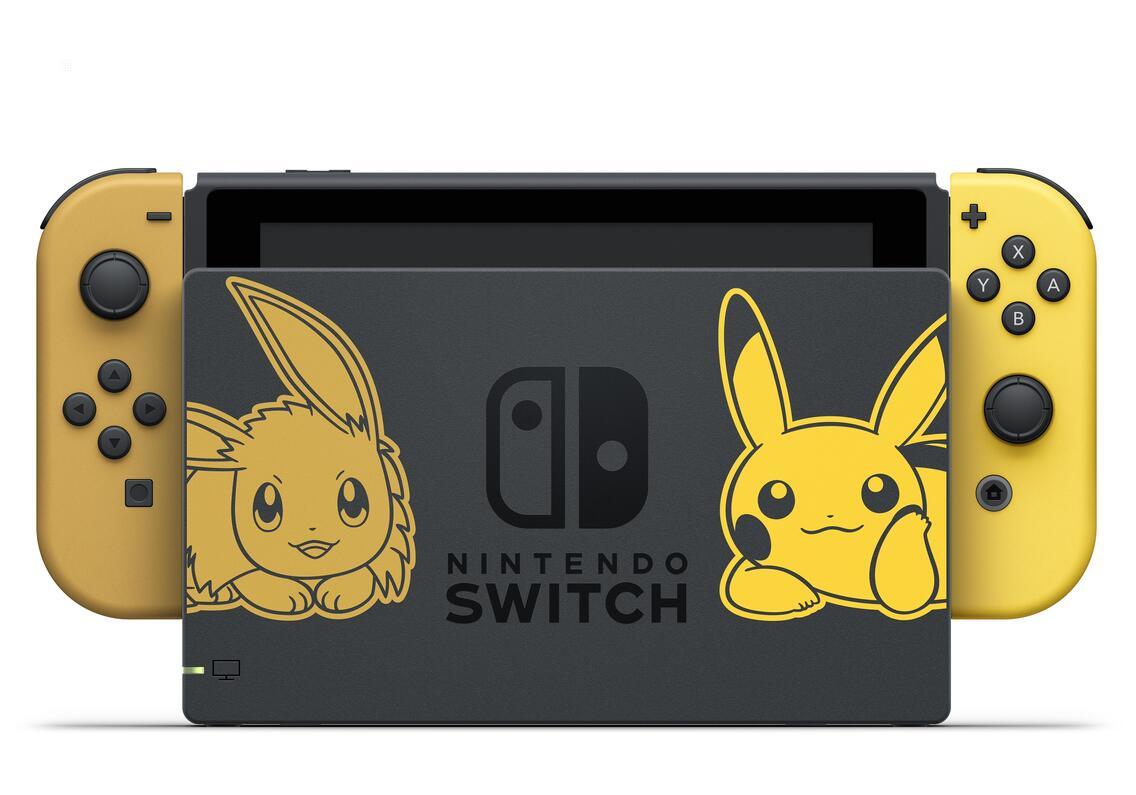 Nintendo Switch Konsole inkl. Pokémon Let's Go Pikachu + Pokéball