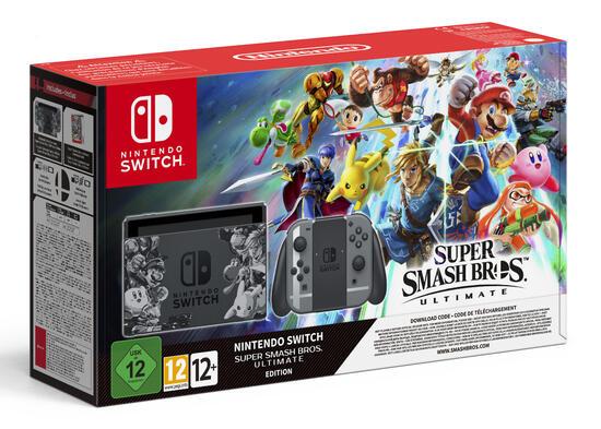 Nintendo Switch Konsole inkl. Super Smash Bros. Ulitmate als Downloadcontent (spielbar ab 07.12)