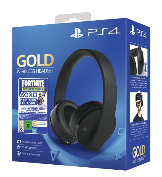 PS4 Wireless Headset Gold inkl. Fortnite Neo Versa Bundle