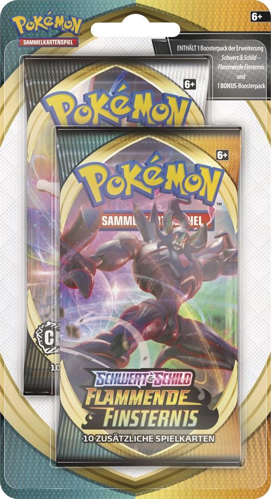 Pokémon Sammelkartenspiel: Schwert & Schild 03 2 Pack Blister Flammende Finsternis