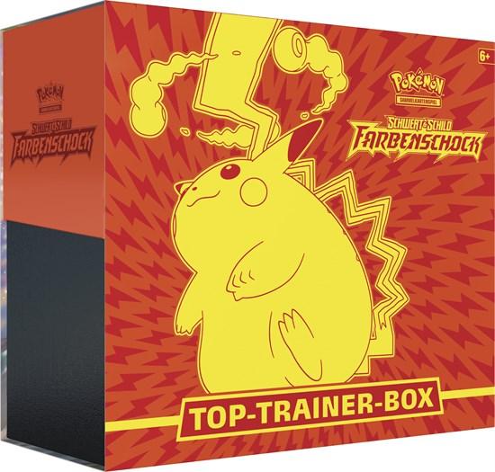 Pokémon Sammelkartenspiel: Erweiterung Schwert & Schild – Farbenschock 04 Top-Trainer Box